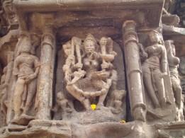 A carving of Godess Kali, Mahakali Caves, Andheri East, Mumbai,