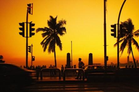 Marine Drive at the Sunset, Mumbai, Maharashtra