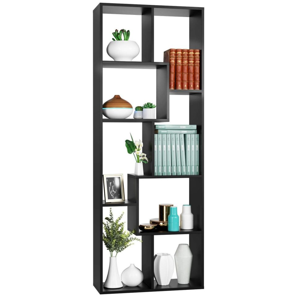 8 cube bookcase free standing display