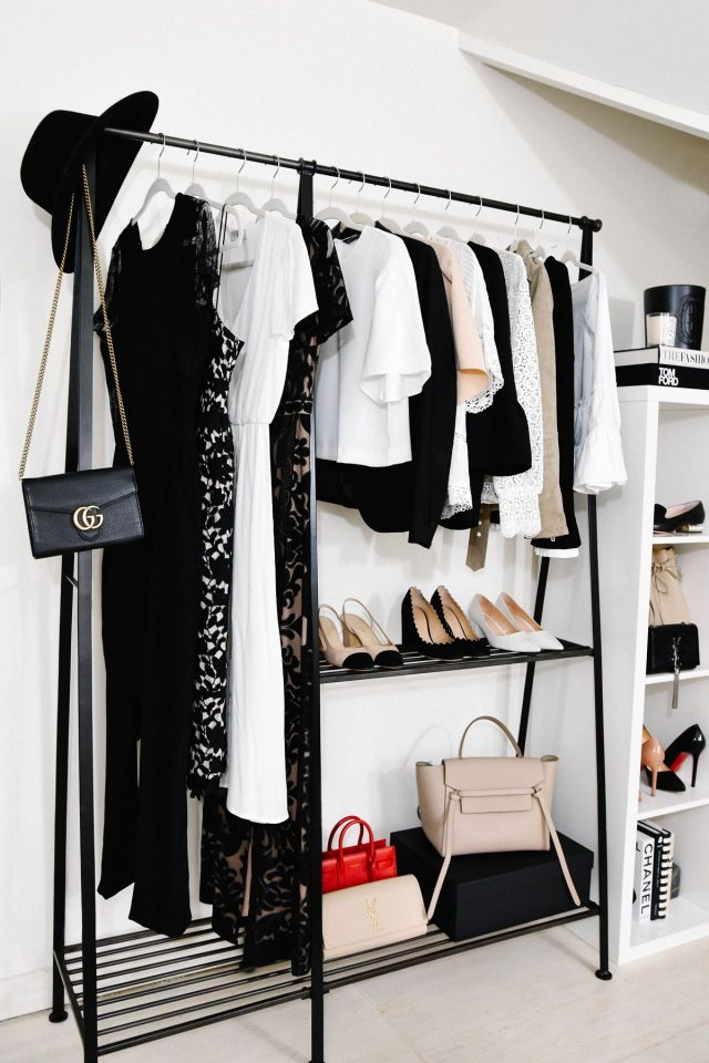 bedroom shelves for clothes
