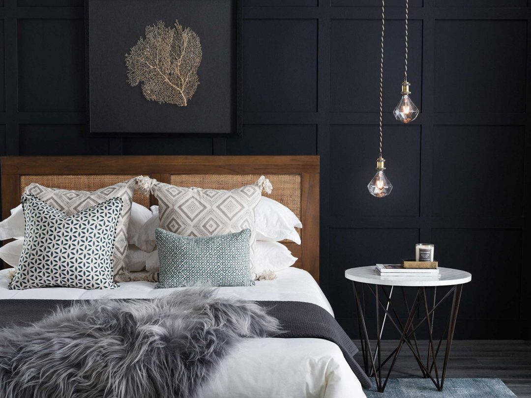 pendant lights in small bedroom