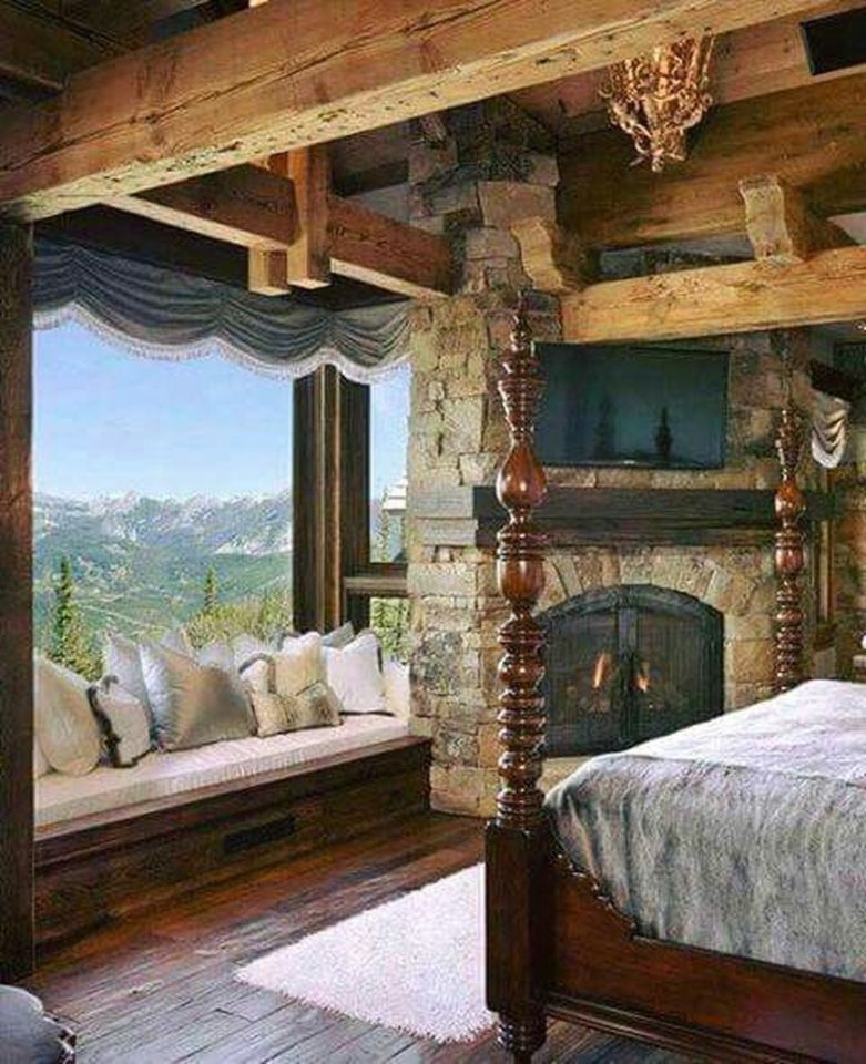 rustic mountain home views of big sky