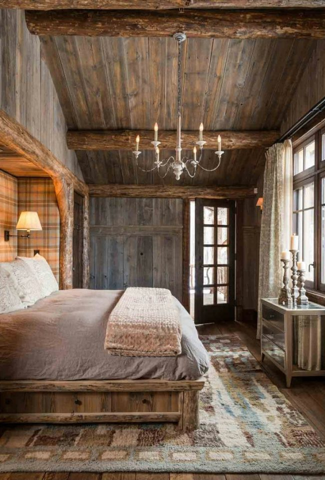 rustic style for a cabinmountain home