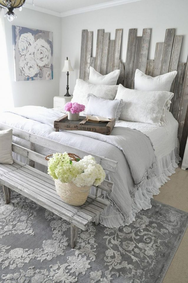 shab chic bedroom decor