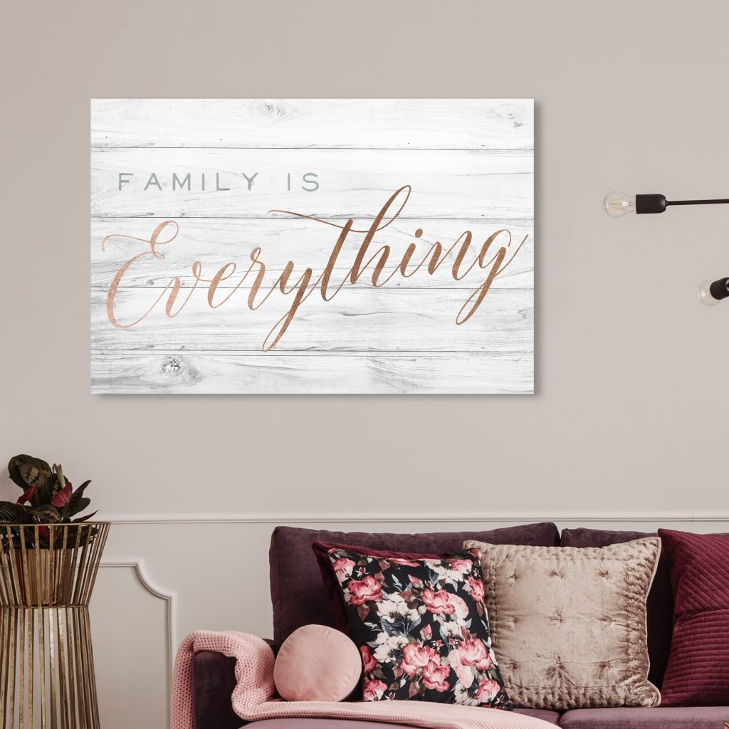 typography wall art canvas for living room