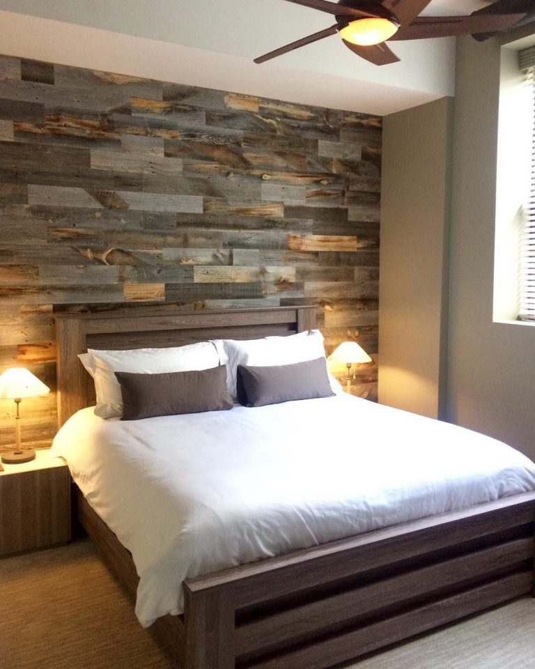 wood wall decor remodel bedroom