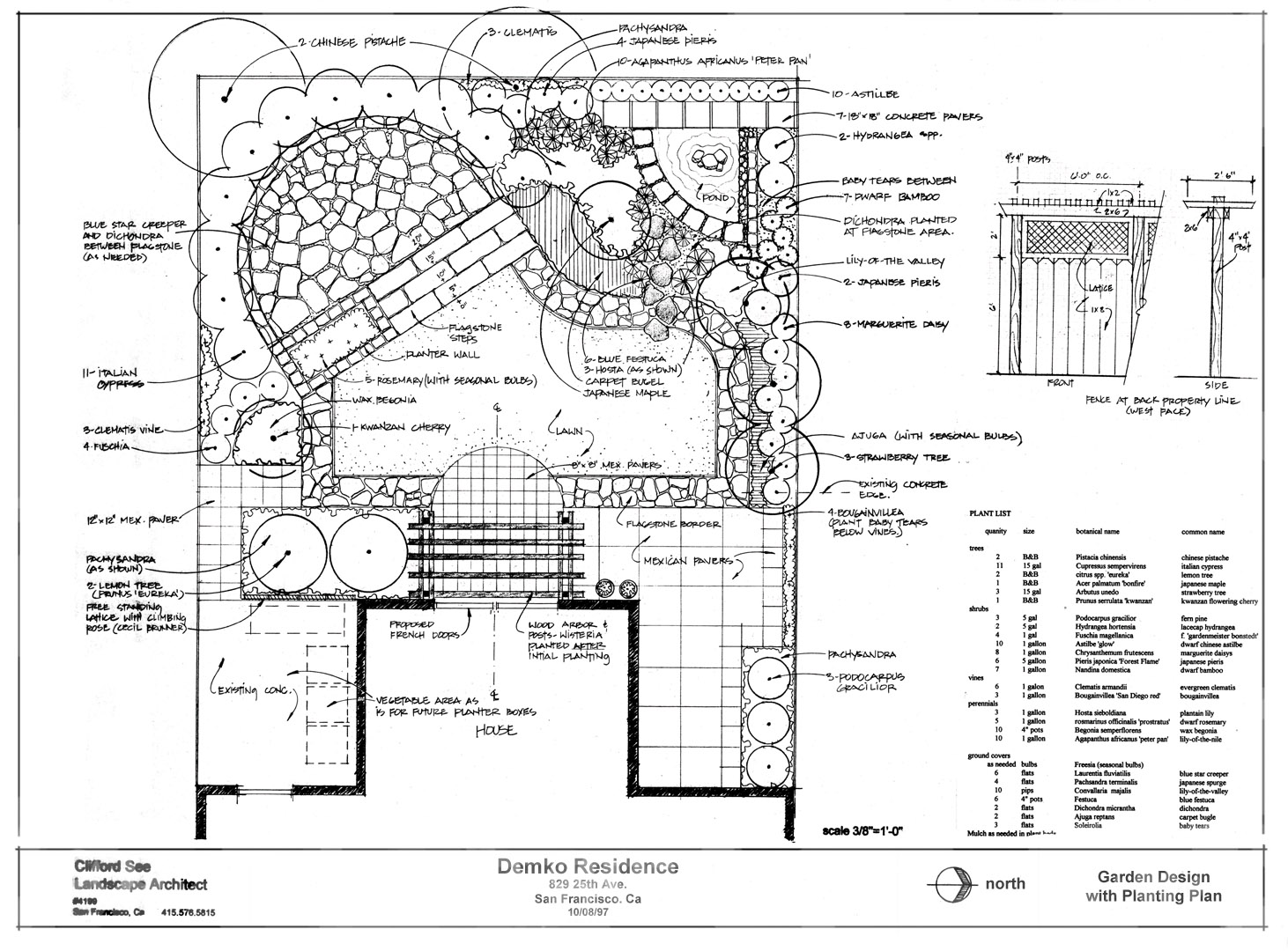 Schematic Landscape Design Drawing