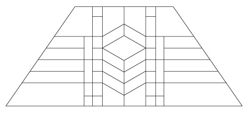 "5404 14"" x 20"" Prairie Lampshade pattern"