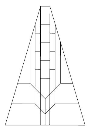 "5804 20"" Octagonal lampshade pattern"