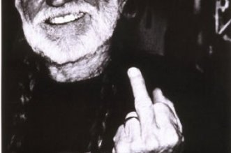 Willie Nelson Middle Finger