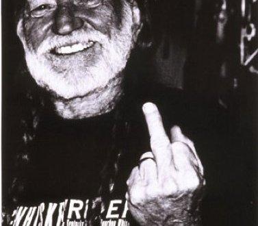 Willie Nelson Middle Finger