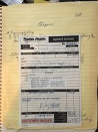 Radio Shack Tandy TRS-80 Model 100 Repair Invoice