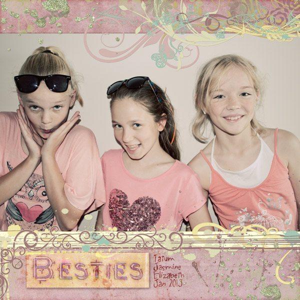 Luscious Lemonade Digital Scrapbook Kit & Whimsical Words of Friendship Word Art