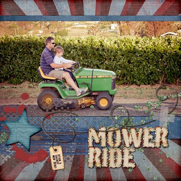 Mower Right Digital Scrapbook Layout
