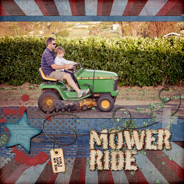 Mower Right Digital Scrapbook Layout