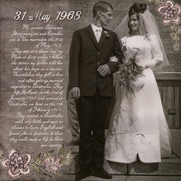 31 May 1968 Digital Scrapbook Layout