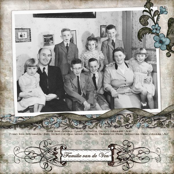 Familie van de Ven Digital Scrapbook Layout