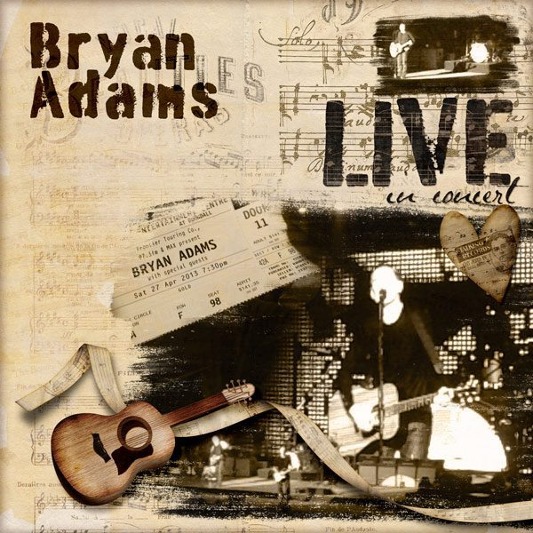 Bryan Adams Digital Scrapbook Layout