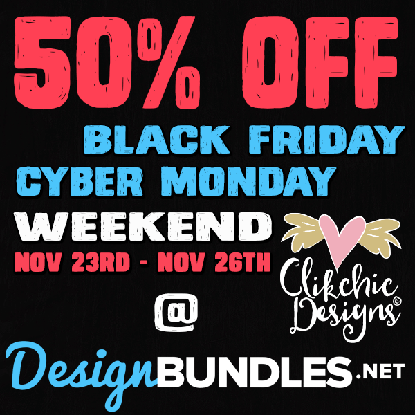 50% Off Black Friday Cyber Monday Weekend SALE @ Design Bundles