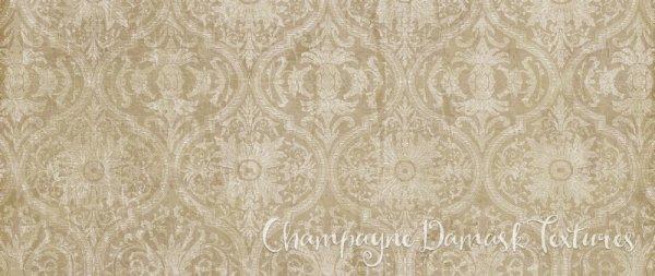 Champagne Damask Background Textures & Digital Scrapbook Paper Pack