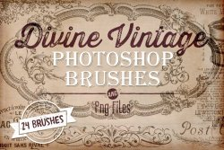 Divine Vintage Photoshop Brushes