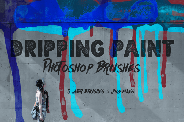 Dripping Paint Photoshop Brushes
