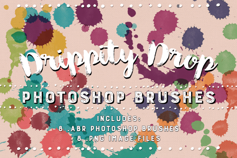 Drippity Drop Watercolor Photoshop Brushes