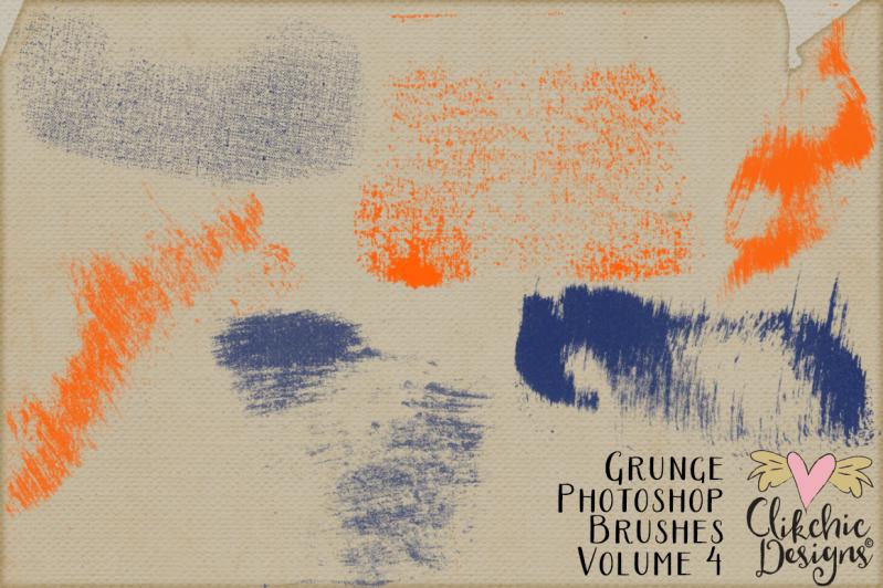 Grunge Ink Smudges Photoshop Brushes Vol 4