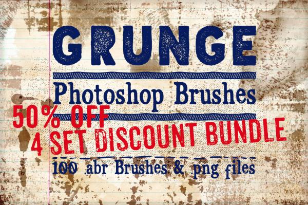 Grunge Photoshop Brushes Bundle
