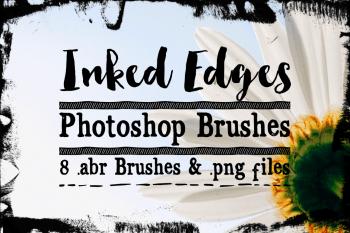 Inked Edge Photoshop Brushes