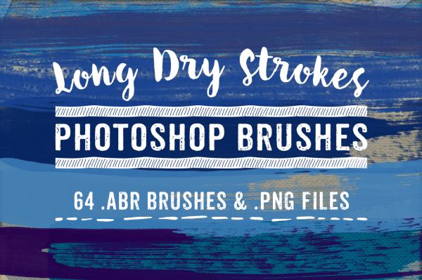 Long Dry Stroke Photoshop Brushes