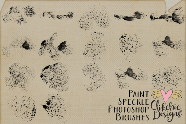 Paint Speckles Photoshop Brushes