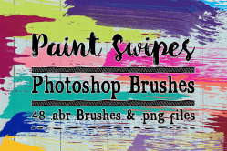 Paint Swipes Photoshop Brushes