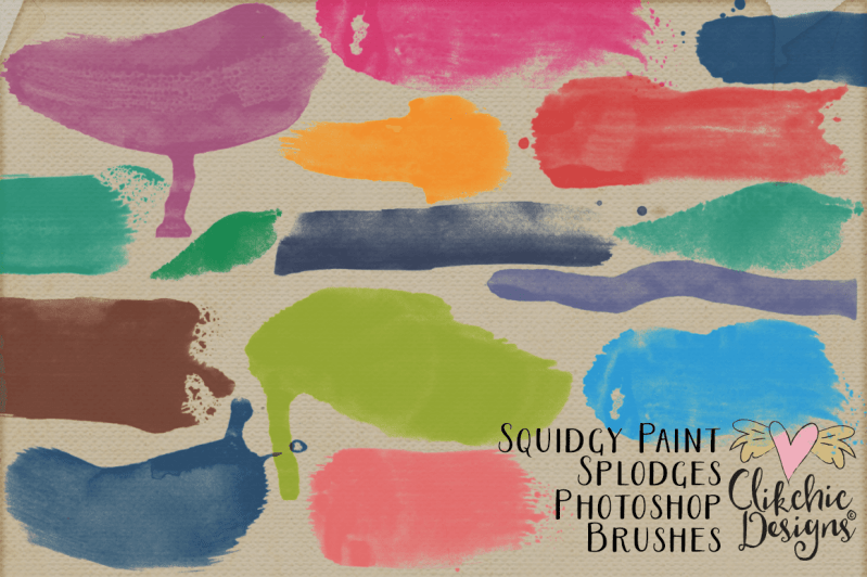 Squidgy Paint Splodge Photoshop Brushes