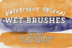 Watercolor Arsenal Wet Photoshop Brushes