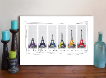 Eiffel Tower Art Canvas