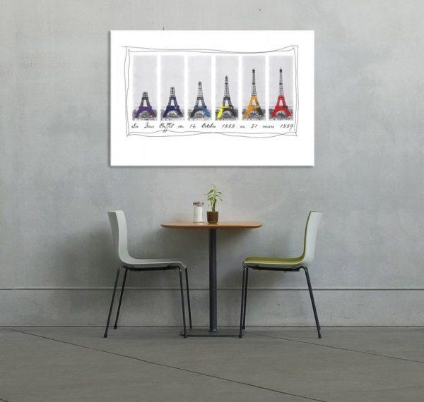 Eiffel Tower Art Canvas