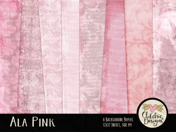 Ala Pink Digital Paper Pack