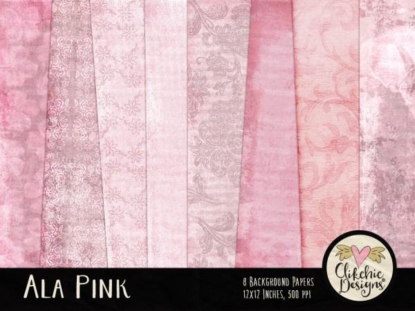 Ala Pink Digital Paper Pack
