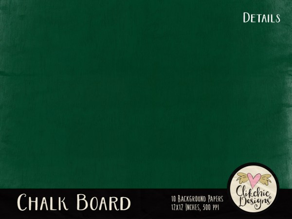 Chalkboard Digital Scrapbook Paper Pack