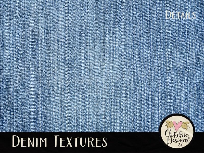Denim Texture Digital Scrapbook Paper Pack