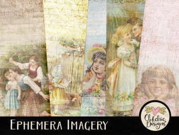 Ephemera Imagery Digital Scrapbook Paper Pack