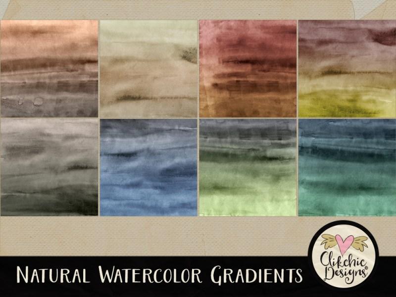 Natural Watercolor Gradients