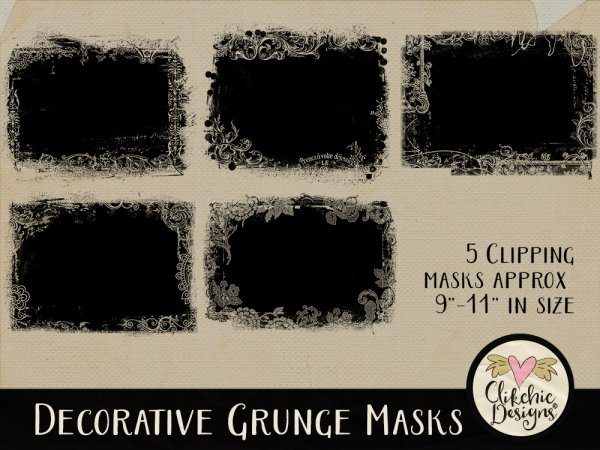 Decorative Grunge Photoshop Clipping Masks