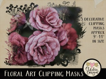 Floral Art Photoshop Clipping Masks