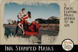 Ink Stamped Photoshop Clipping Masks