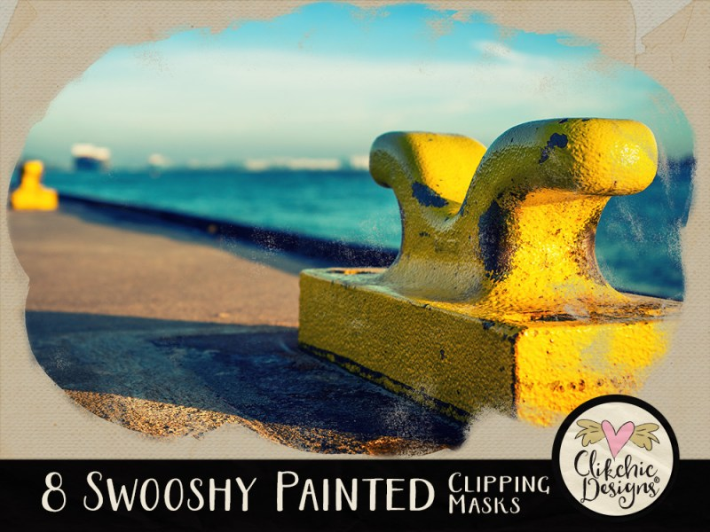 Swooshy Painted Photo Clipping Masks