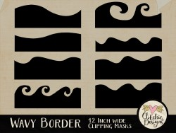 Wavy Border Photoshop Clipping Masks