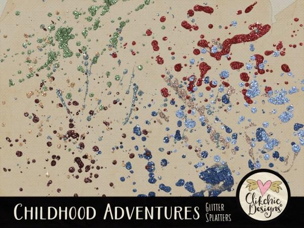 Childhood Adventures Glitter Splatters
