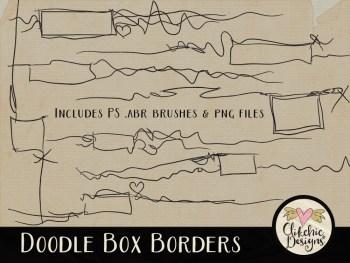 Doodle Box Borders and Photoshop Brushes
